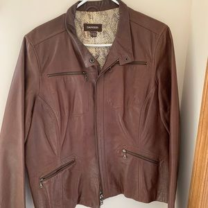 Beautiful brown Danier leather jacket
